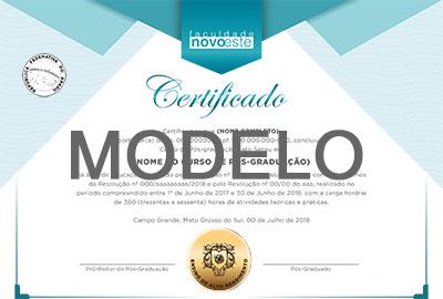 Certificado Novoeste